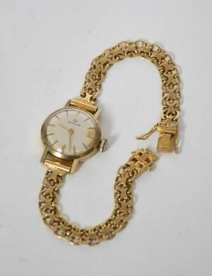 Armbandsur, dam, Certina 18-k guld