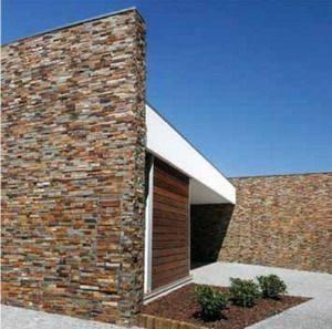 Naturfarvet stenvæg, 13 m2