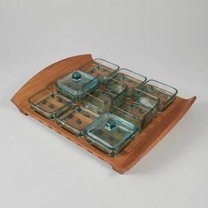 Bricka med glasskålar, Jens Quistgaard 1919-2008