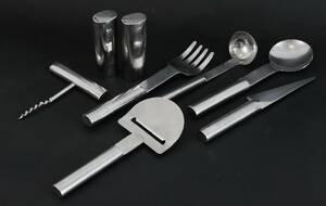 Bestickservisdelar 8st, Oval Steel, Mikael Björnstjerna för Boda Nova