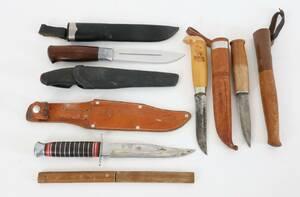 Knivar med slida 6st, bl.a. Brusletto, Norge