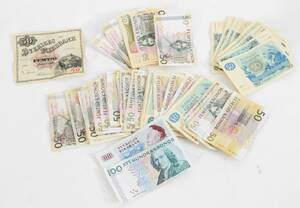 Parti svenska sedlar