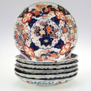 TALLRIKAR, 6 st, keramik, Japan
