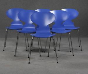 Arne Jacobsen. Seks stole, model 3101 6