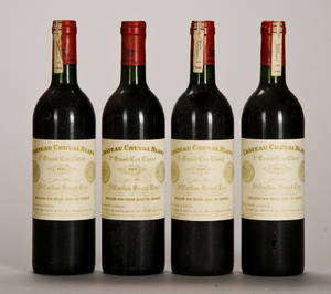 4 fl. Chateau Cheval Blanc 1985.