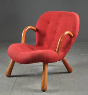Philip Arctander,Clam Chair  Muslinge-stol, formgiven 1944