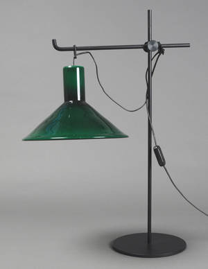 Bordlampe, Holmegaard, PT Michael Bang.