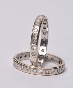 2 Allianceringe med old-cut diamanter