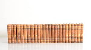 Albert Engström, samling böcker i halvfranska band. 25
