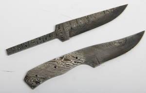 To håndsmedede knivklinger for knivbyggere. 2