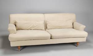 Erik Jørgensen. EJ 475 Cicero sofa, 2 personers kitfarvet alcantara