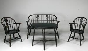 Soffa samt bord och 2 stolar, Gemla, windsor 4