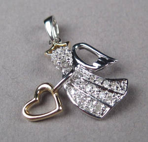 Diamantvedhæng. Ca. 0.25 ct