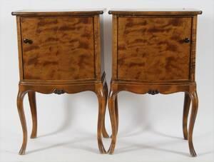 Nattduksbord 1 par, rokoko-stil, 1900-talets första hälft