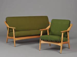 H. Brockmann- Pedersen. Lænestol og sofa af  eg 2