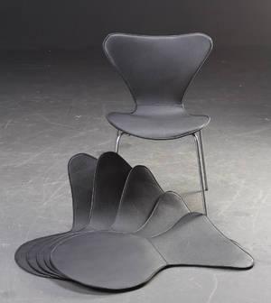 Læderovertræk til Arne Jacobsens 7´erstole, sæt på 6 stk. 6