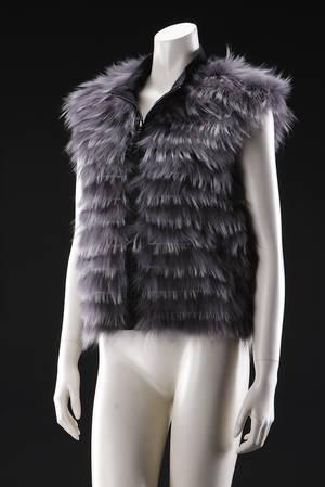 Fur Living. Vest af raccon. Str. LXL Style 290