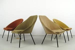 Set Lounge Sessel der 1950er Jahre, wohl Frankreich 4