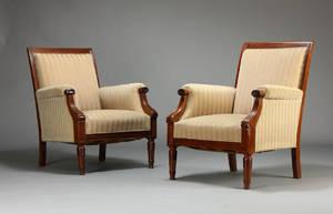 Par lænestole, mahogny 2