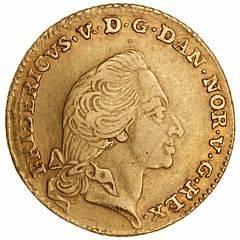 Frederik V, kurantdukat  12 mark 1760, H 22C, F 269