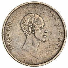 Frederik VI, 12 speciedaler 1826 FF, lige halslinie, H 27A