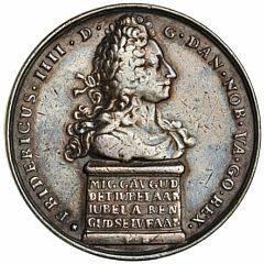 Frederik IV, reformationsfesten 1717, Berg, Ag, 42 mm, 28,1 g, G 309