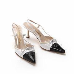 99169037c37f Chanel Et par damesko i sorthvid læder str. 36. H ca. 6 cm