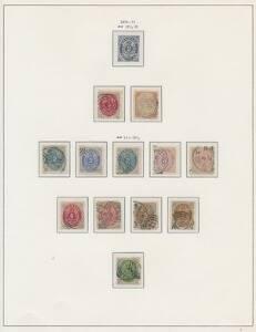 Danmark. 1851-2002. Ganske velfyldt samling i Stender-album incl. mange bedre mærker. Se fotoudsnit