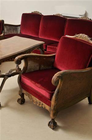 slutpris f r soffgrupp i chippendale stil 4. Black Bedroom Furniture Sets. Home Design Ideas