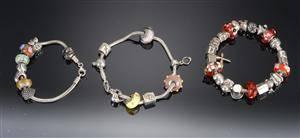 Pandora tre armbånd med charms 3