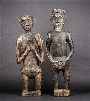 Afrikanske figurer, udskåret træ 2