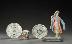 Seks dele kinesisk porcelæn, 18001900-tallet 6