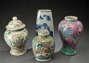 Fire dele kinesisk porcelæn, 1900tallet 4