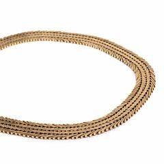 Halskæde af 14 kt. guld. Gifa. Vægt ca. 62,5 gr. L. ca. 41,5 cm.