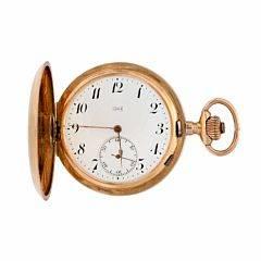 L.U. Chopard dobbeltkapslet lommeur af 14 kt. guld. Ca. 1900-1910. Vægt ialt 102 gr. Kassediam. 57 mm.