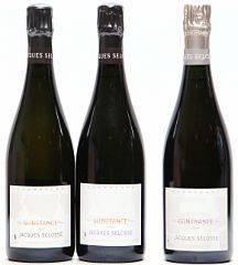 2 bts. Champagne Grand Cru, Blanc de Blancs Substance, Jacques Selosse A hfin.  etc. Total 3 bts.