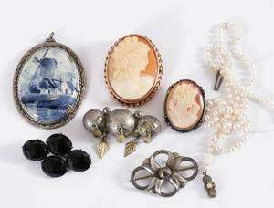Smycken 7 delar, bl..a silver