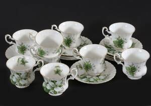 Kaffekoppar med fat 9st, Trillium, Royal Albert
