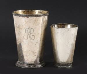 Bägare 2st, silver, 1900-tal