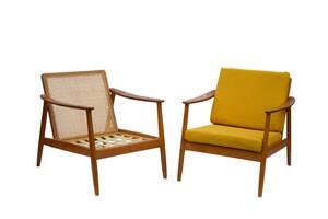 Fåtöljer ett par, Folke Ohlsson för DUX, 195060-tal