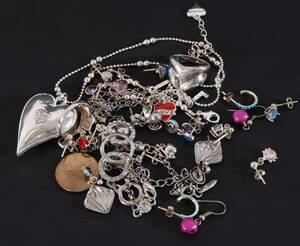 Parti smycken, mestadels silver