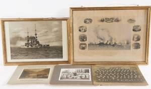 Sjöfartskuriosa 5 delar, bl.a. 1800-tal