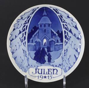 Jultallrik, Rörstrand, 1915