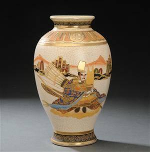 japansk keramik Slutpris för Japansk vase af keramik, 18001900 tallet. japansk keramik
