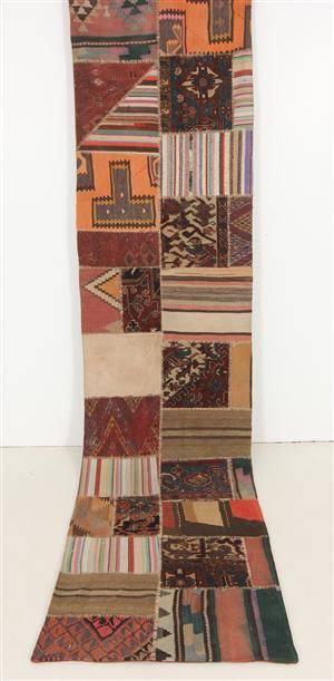 Matta, Kelim patchwork 360 x 84 cm