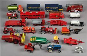 Samling legetøjsbiler bla. Tekno 22