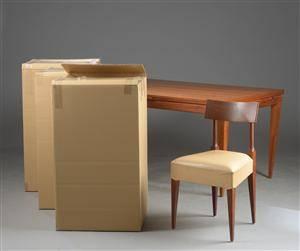 Jesper Holm. Spisebord med hollandsk udtræk samt 6 stole 7