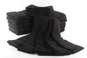 Damask Collection, pakke sorte håndklæder.40