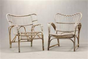 Viggo Boesen. Par lænestole,bambus, 1940erne, R. Wengler 2