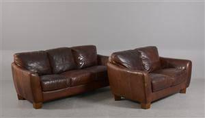 Sofitalia International. Sofaer med brunt læderbetræk 2